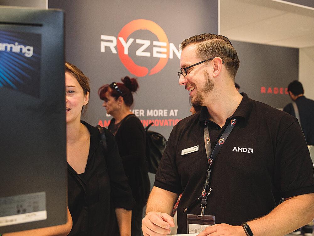 AMD IFA 2017 Training Produkte vorführen