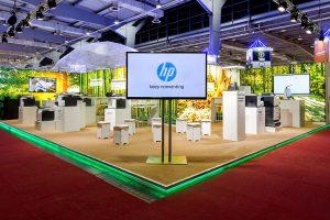 Messekonzept von JET Services für HP für die CeBit 2016