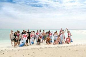 Huawei Team auf Malediven