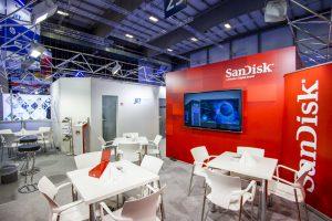 Messekonzept von JET Services für SanDisk auf der IFA 2016