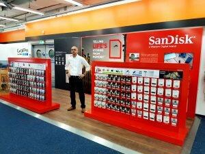 SanDisk Shop-in-Shop Konzept von JET Services