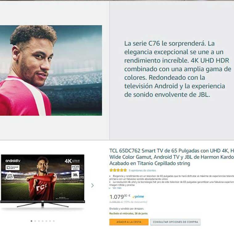Länderspezifische Produkttexte für TCL Spanien