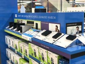 Von uns als Marketing Agentur speziell entwickeltes WD-Regal im Saturn Markt in München.